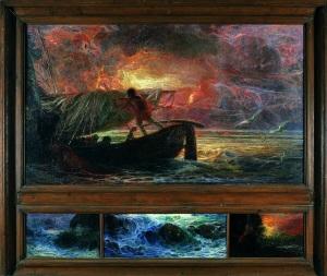 Plinio Nomellini, I corsari, 1906 - 1910, olio su tela e olio su tavola, Genova, Galleria d'Arte Moderna