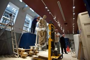 Donatello, Abacuc,  allestimento del nuovo Museo dell'Opera Firenze foto Opera del Duomo / Claudio Giovannini