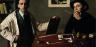 Doppio autoritratto Antonio e Xavier Bueno olio su tela 74x100 1944