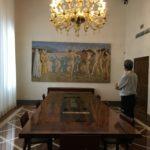 Sala riunioni con l'affresco di Giovanni Colacicchi, Ente Cassa di Risparmio di Firenze