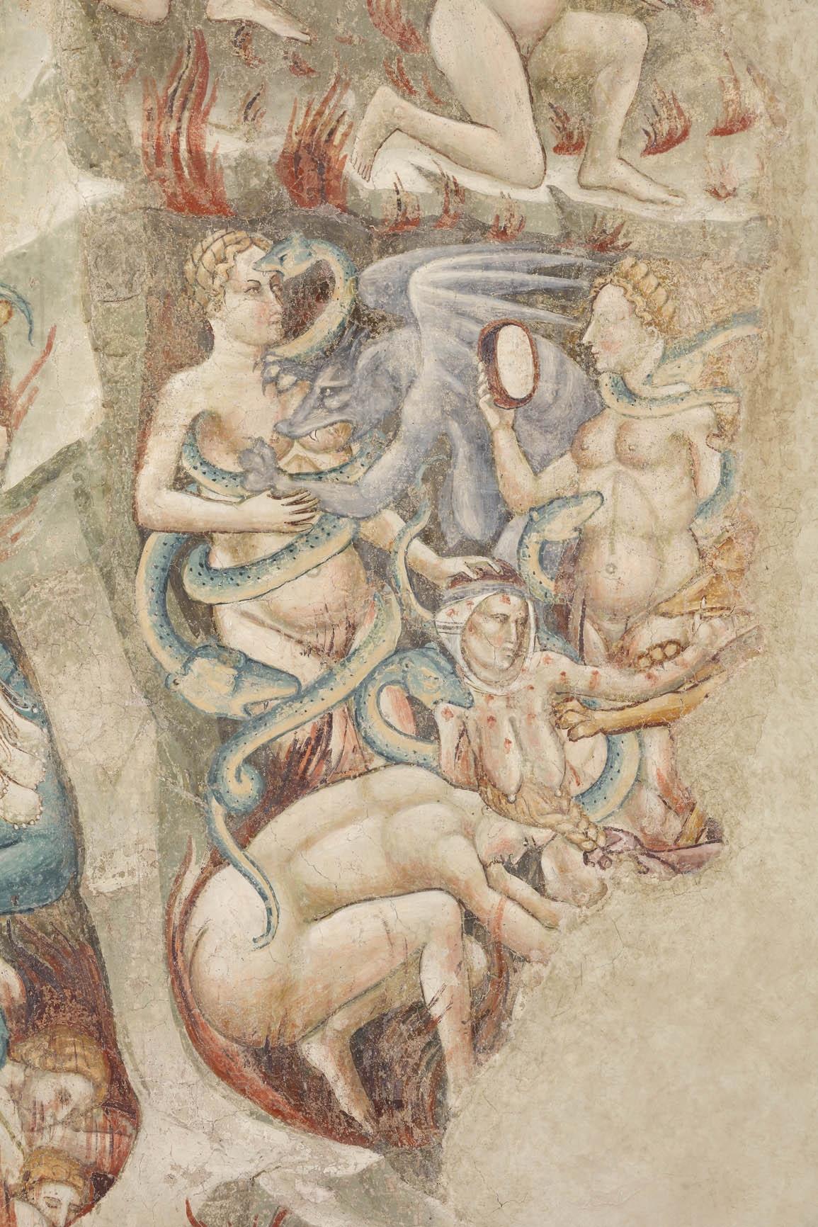 Cenni di Francesco di ser Cenni, particolare dell'Inferno. San Gimignano, San Lorenzo in Ponte.