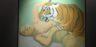 Maria Lassnig A letto con una tigre, 1975