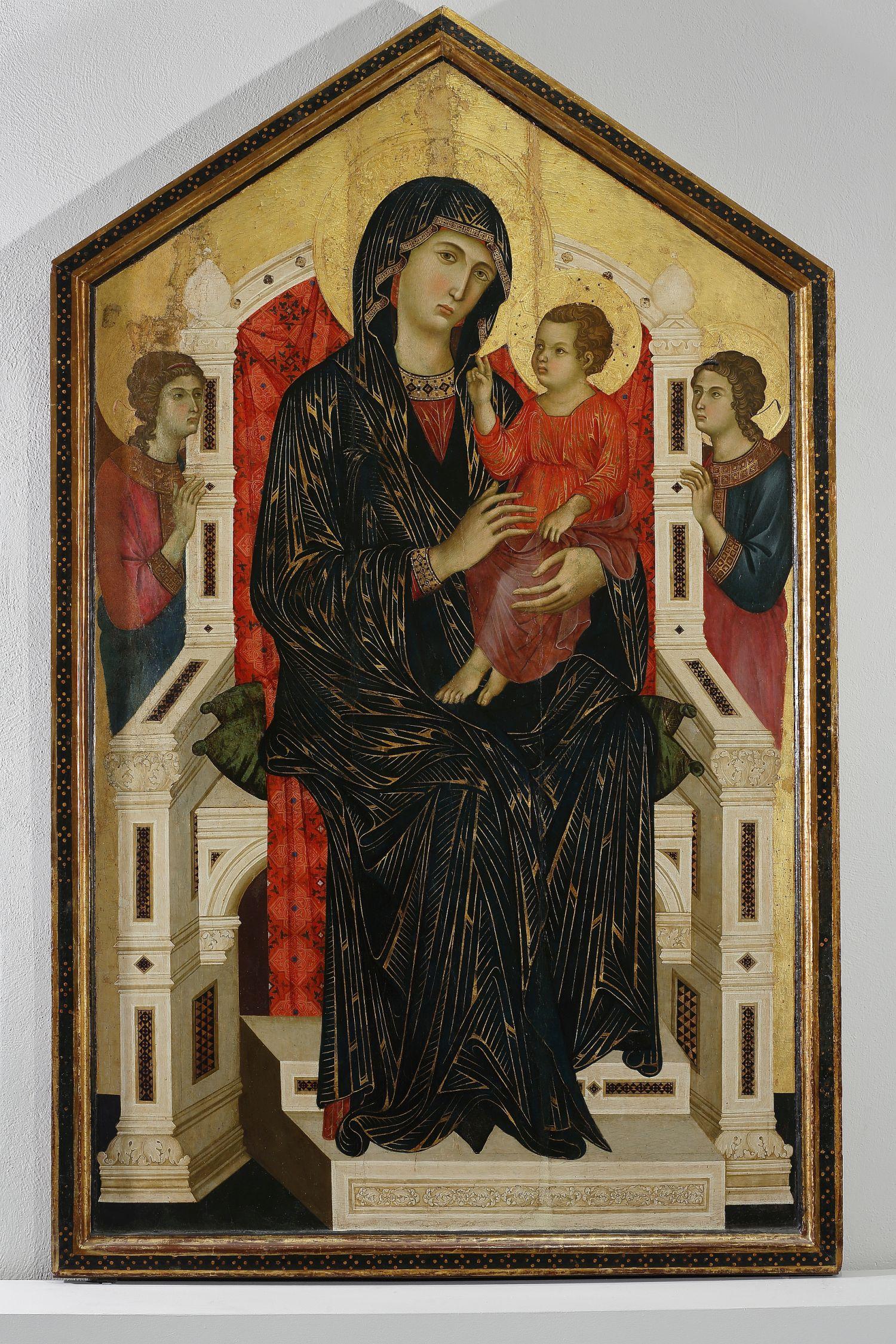 Maestro di Badia a Isola, Madonna in trono col Bambino, fine XIII secolo, collocazione Museo Diocesano