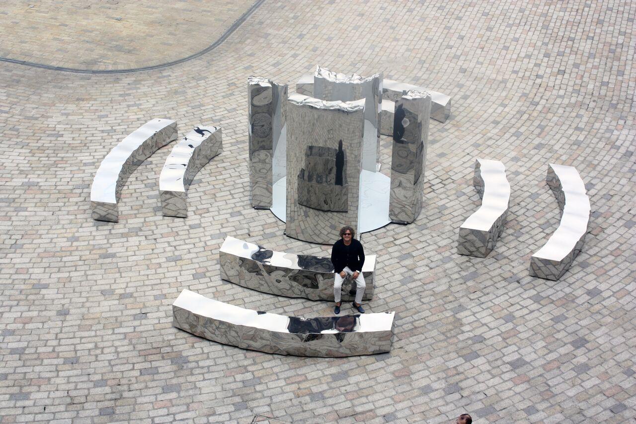 "Helidon Xhixha ""Bliss"", Mirror Polished Stainless Steel, London Design Biennale 2016, Somerset House, London"