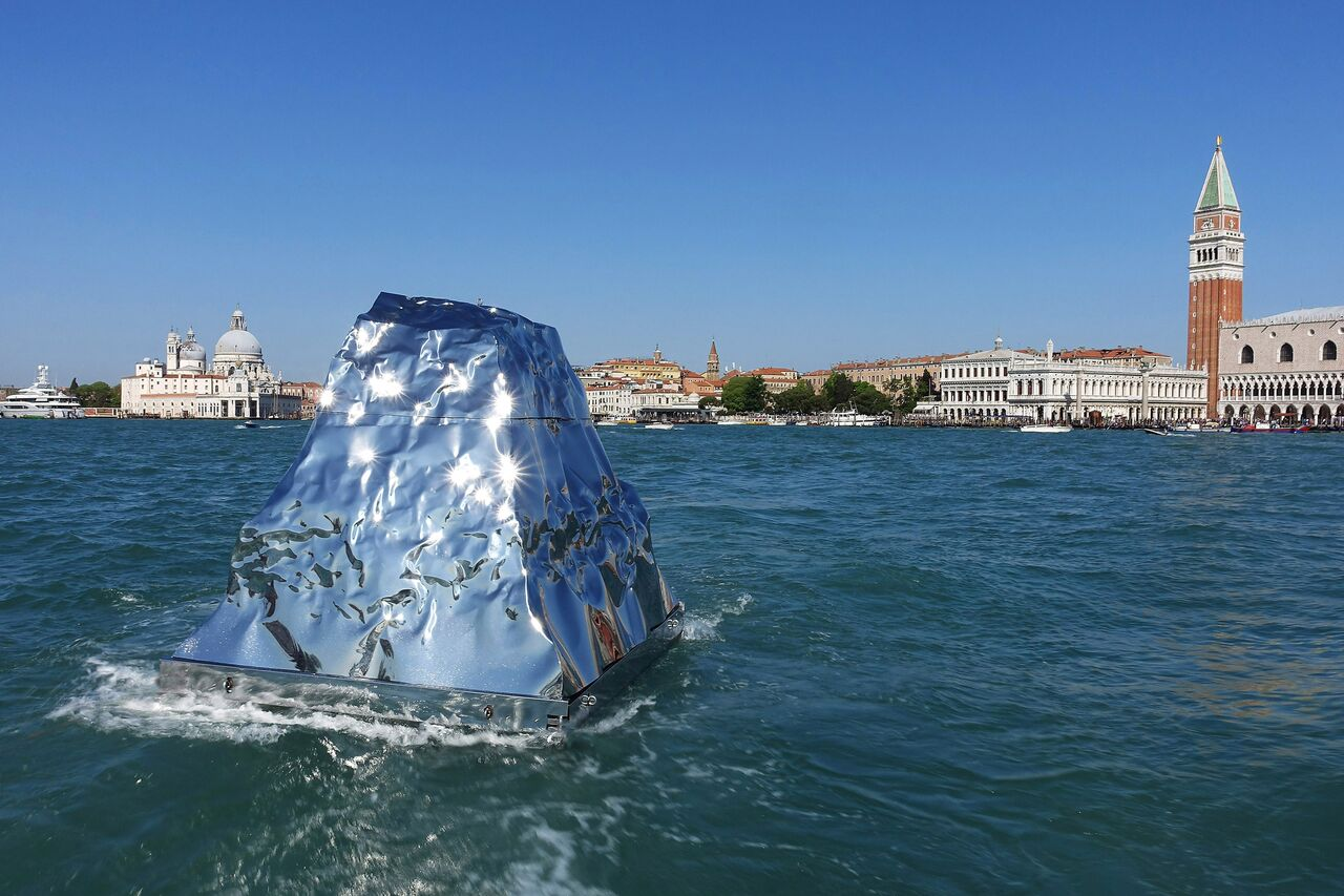 "Helidon Xhixha, ""Iceberg"", Mirror Polished Stainless Steel, La Biennale di Venezia 2015"